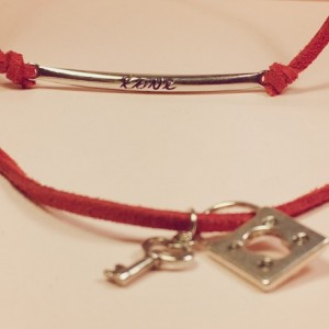 Red Layered Choker Necklace with Charms