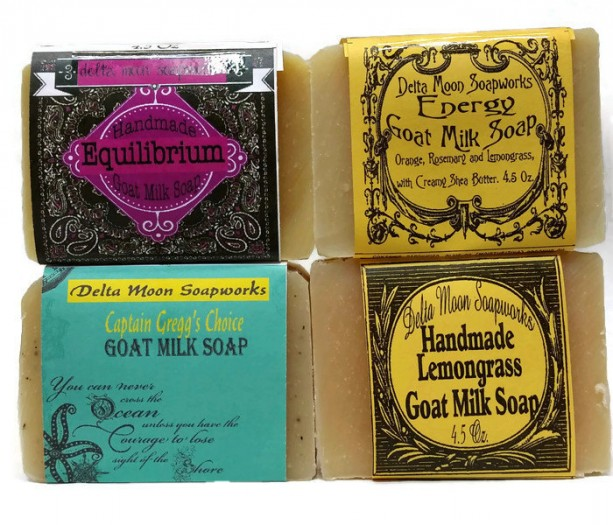 Lemongrass Goat Milk Soap Asst. essential oil soap, natural handmade soap, cold process soap,sea kelp soap, unisex soap, eco-friendly soap,