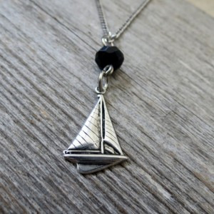 Men's Necklace - Men's Boat Necklace - Men's Silver Necklace - Mens Jewelry - Necklaces For Men - Jewelry For Men - Gift for Him