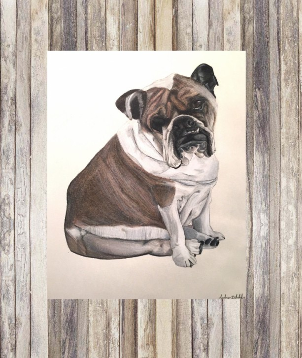 Dog Portrait Custom (8x10), Custom Dog Portrait, Dog Portrait, Custom Pet Portrait, Pet Portrait, Pet Portrait Custom, Pet Portrait Gift