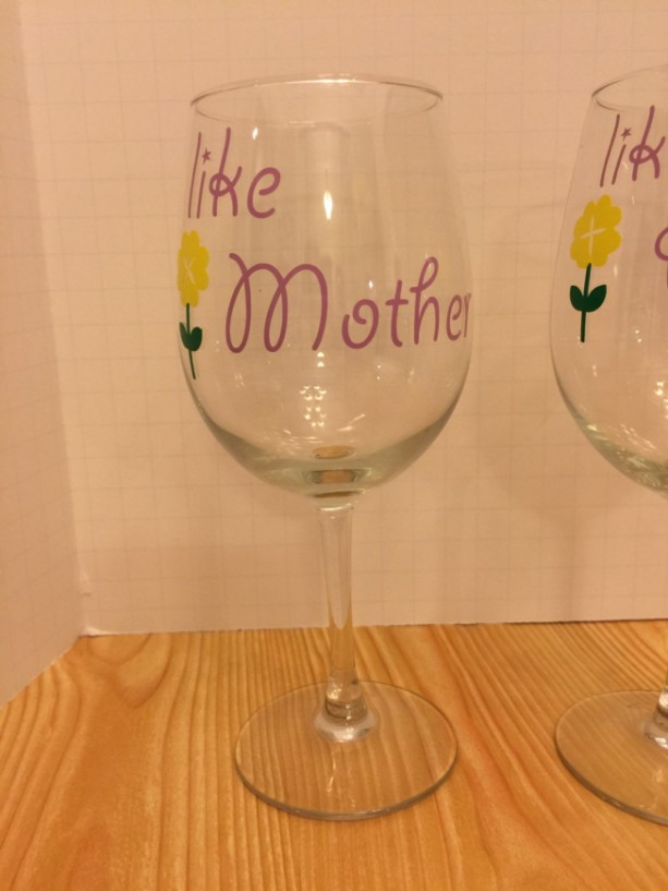 Like Mother Liek Daughter Wine Glasses Aftcra