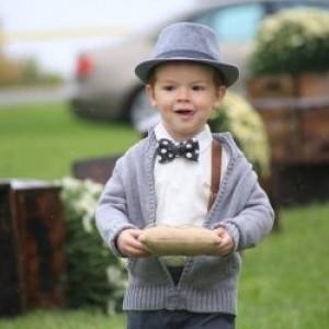 Organic Cotton Polka Dot Boy's Adjustable Bow Tie