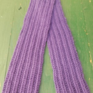 Purple Ribbed Scarf