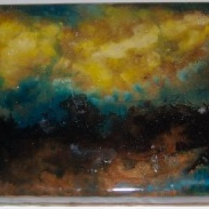 Nebula Space Wall Art Resin Painting on Wood 2