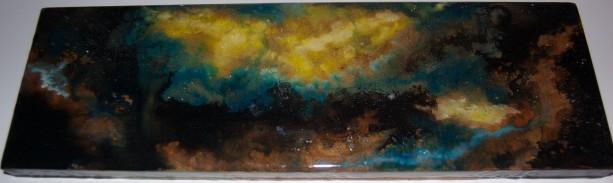 Nebula Space Wall Art Resin Painting on Wood 2