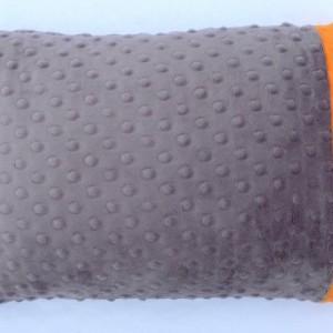 Gray Orange Pillowcase - Travel Pillowcase - Minky Pillowcase - Kids Gift - 12x16 Pillowcase - Pillow Cover - Unisex Gift - kids bedding