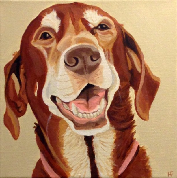 "Roxy - Custom Pet Painting 10"" x 10"" x 1.5"""