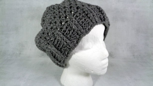 slouchy beanie - slouch hat - baggy hat - Stocking stuffer - holiday gift - Christmas gift - gift under 50 - grey beanie - winter beanie hat
