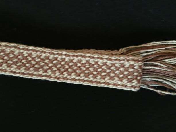 Inkle Loom Woven Band. 100% Cotton. #58-915