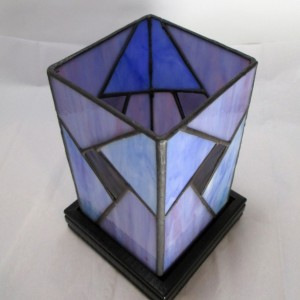 Contemporary Stained Glass Lamp
