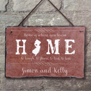 Home State Sign! Personalized Welcome Sign. Welcome To Our Home. Custom State Plaque. Wedding Gift. House Warming Gift. Outdoor Sign.