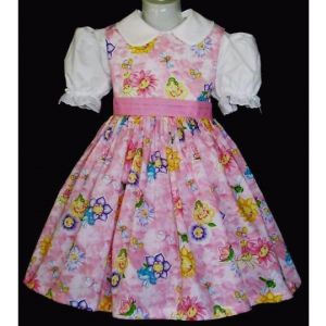 NEW Handmade Daisy Kingdom Sunny Friends Pink Dress Custom Sz 12M-14Yrs