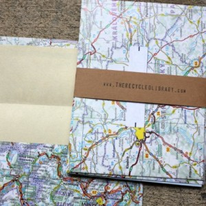 Europe Envelopes & Notecard Set - Maps - Set of 5
