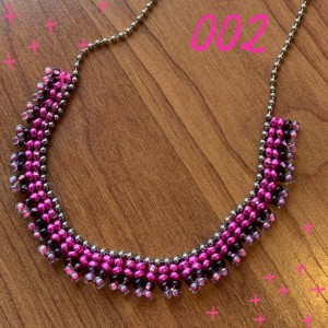 Ball Chain Necklace (Pink)