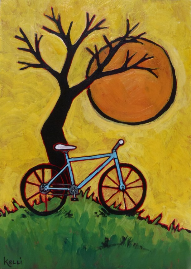 """""""Nice Day for a Ride"""" original painting"""