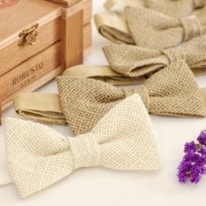 Burlap Bow Tie - Rustic Bow Tie - Wedding Bow Tie Groom Bow Tie Bridal bow Tie Bridal party Prom Bow Tie Groomsmenbowtie