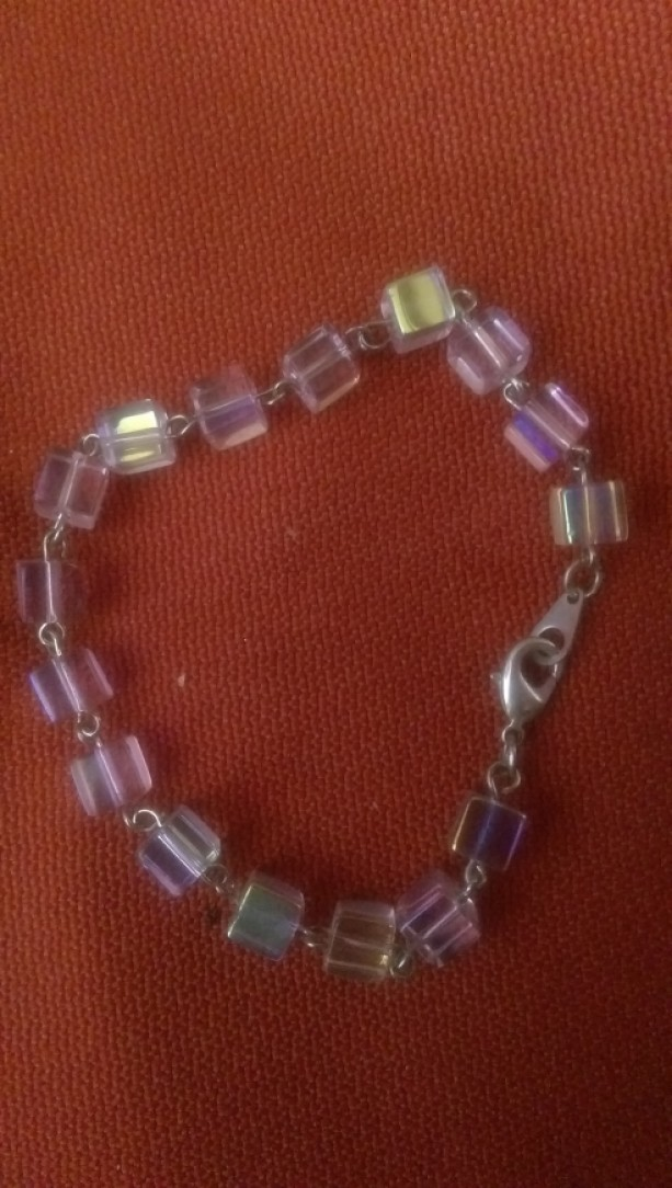Pink Squared Bracelet