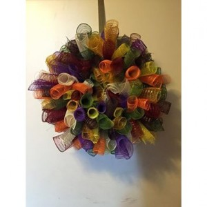 Fall Cornucopia Deco Mesh Wreath