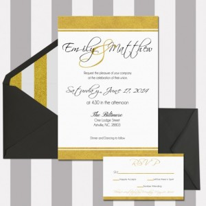 Wedding Invitation Printable, Black and Gold, Customizable, Modern and elegant, Digital Invitation