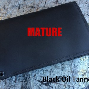 Mature, Bad Mother F*cker, Mens Window & Zipper Wallet, Genuine Leather,Biker Wallet,Trucker Wallet with Rivets,Bifold Wallet, Made in USA
