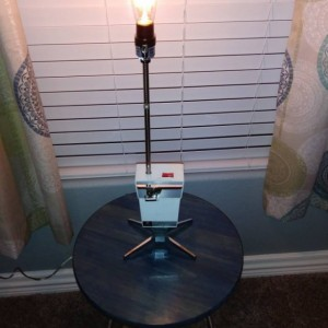 Vintage Can Opener Lamp/ Upcycled Lamp/ Accent Lamp/ Table Lamp