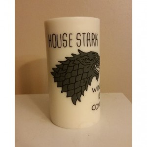 "3x6 ""House Stark"" Pillar Candle"