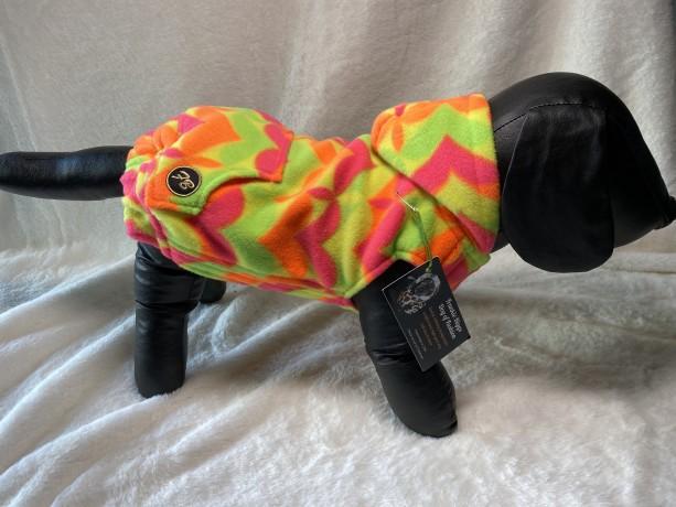 "XS neon pattern hoodie 15-16"" girth"