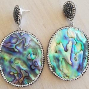 Abalone Druzy Crystal Devotionaluxe Earrings