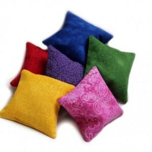 Rainbow Bean Bags Childrens Educational Toy Homeschool Sensory Kids (Set of 6)