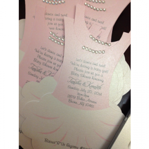 Tutu invitation flat - Ballerina - invitation