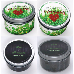 (2 Candles Minimum) 8 oz Round Tin Soy Candle