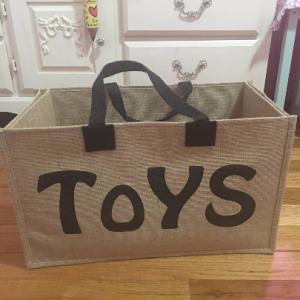 Jute Kids Toys Storage Basket