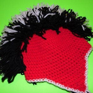 Custom crochet Mohawk hat