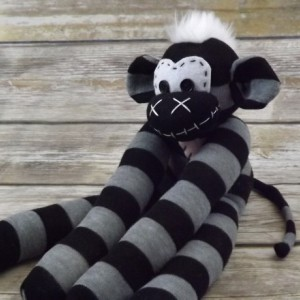 Sock monkey : Jason ~ The original handmade plush animal made by Chiki Monkeys