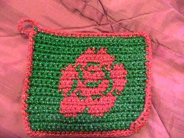 Red Rose Pot Holder