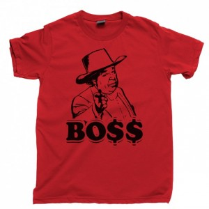Boss Hogg Men's T Shirt, Boss Hog Sheriff Rosco P Coltrane Dukes Of Hazzard Unisex Cotton Tee Shirt