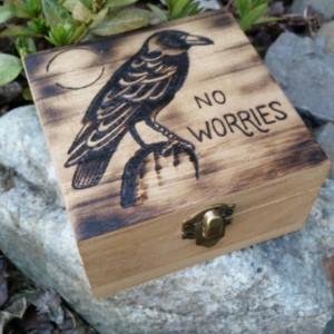 Wood-burned trinket box