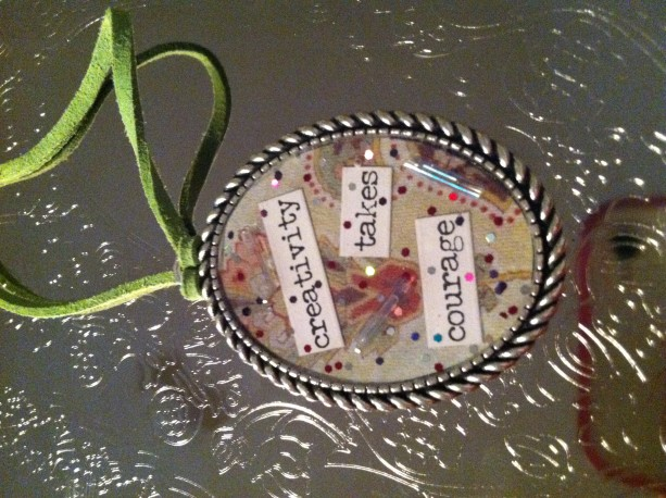 Handmade Positive Thinking Resin NEcklace 4