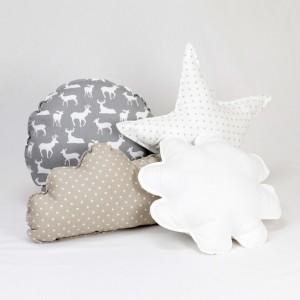 White with Gray Mini Stars Kids Teepee Set