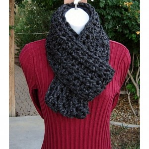 INFINITY SCARF Loop Cowl, Dark Charcoal Grey Gray Black. Soft Wool Blend Lightweight Winter Circle, Neck Warmer..Ready to Ship in 2 Days