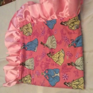 Princesses Baby Blanket with Ultrasoft Minky on Back