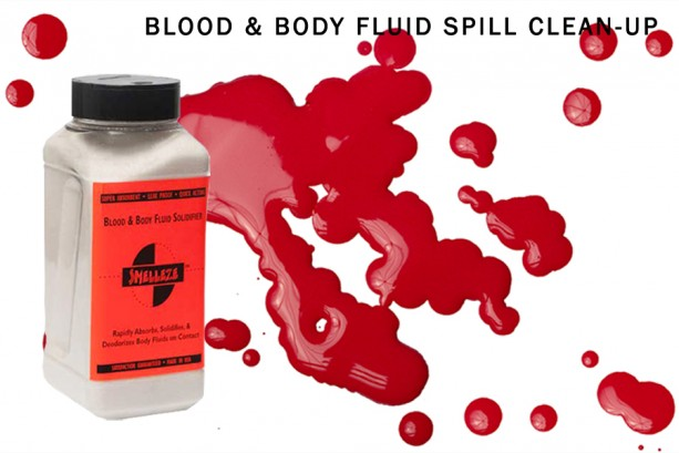 SMELLEZE Blood & Body Fluid Clean Up Super Absorbent, Solidifier & Deodorizer: 2 lb. Granules