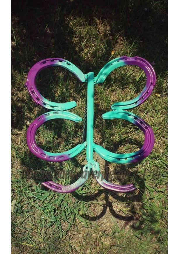 Butterfly Yard Decor, Butterfly Garden Decor, Butterfly Horseshoe Yard Art,  Outdoor Yard Art