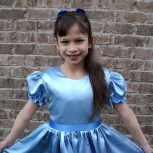 NEW Elegant Peter Pan Wendy Satin Costume 2PC Dress Set Adult Size S/M/L