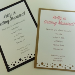 """Hand-cut Layered Invitation in """"bubbles"""" Style-Pack of 10-Perfect for Showers, Weddings, Sweet 16, Birthday, etc. Several Colors Available"""