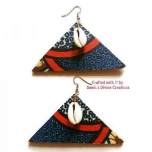 Cowry Earrings, African Fabric, Cowrie Earrings, Ankara Earrings, Ankara Prints, Shell Earrings, Tribal Shell Earrings, Ankara Fabric, Cowry