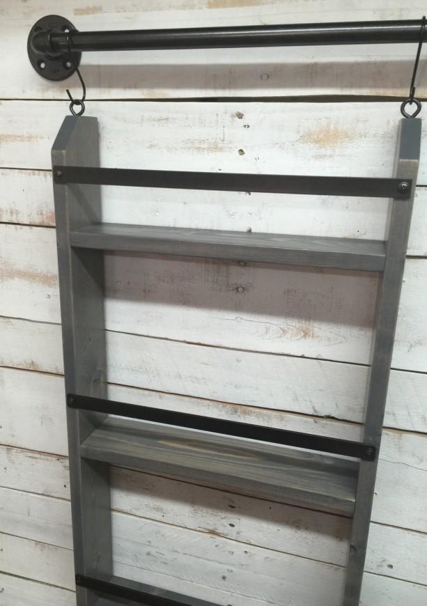 Bathroom Ladder Shelf Rustic Bathroom Shelf Industrial