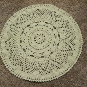 Sale! Handmade Tan Pineapple Wheel Doily Centerpiece Placemat Table Decor