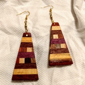 Handmade Wood Inlay Earrings