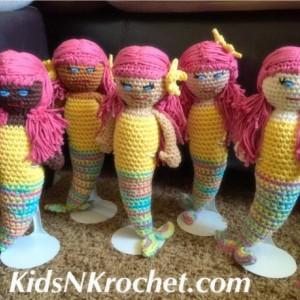Rag doll  / amigurumi / mermaid dolls / bedtime toy / ethnic